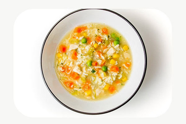 Chicken and Rice Soup + Crackers - 450