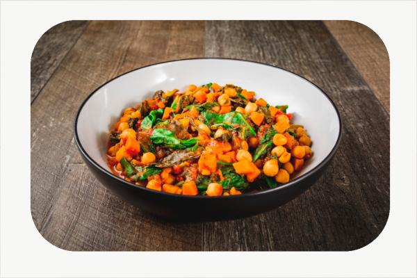Spinach and Sweet Potato stew - 450